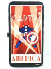 Captain America Retro Hard Case Bifold Wallet Marvel Comics Avengers New