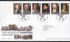 GB 2011 FDC Kings & Queens House of Hanover Bureau Edinburgh postmark stamps