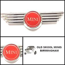 CLASSIC MINI RED BONNET/BOOT WING BADGE AUSTIN MORRIS COOPER ROVER 3P3