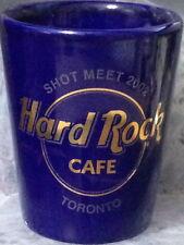"Hard Rock Cafe TORONTO 2002 2.5"" SHOT GLASS Collector MEET Blue Ceramic MINI New"