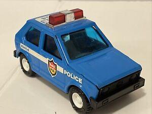 Vintage 1970's Buddy L Volkswagen Police Car No. 49404 Metal & Plastic. Blue