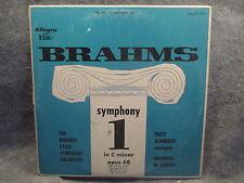 33 RPM LP Record Brahms Symphony #1 In C Minor Opus 68 Allegro Records 3121