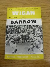 11/10/1968 Rugby League Programme: Wigan v Barrow  . Thanks for taking the time