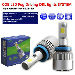 H8 H9 H11 LED Fog Light White Driving Lamps DRL Bulbs Fit Acura MDX TSX RSX ILX