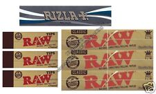 KING SIZE RAW ROLLING PAPERS AND RIZLA MICRON AND RAW ROACH TIPS