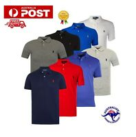 Polo Ralph Lauren Original Men's T-shirt Collar Neck Custom Fit Small Pony