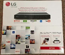 LG 550 3D Blu Ray DVD Player  Wi-Fi -SEALED NIB NEW