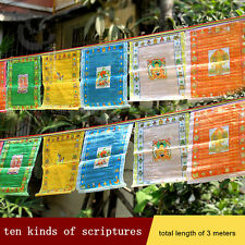 BLESSED TIBETAN TOP QUALITY GOLD GILT WIND HORSE PRAYER FLAG Buy 3 Get 1