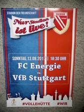 Plakat 17/18 Energie Cottbus - VfB Stuttgart DFB - Pokal Format A2