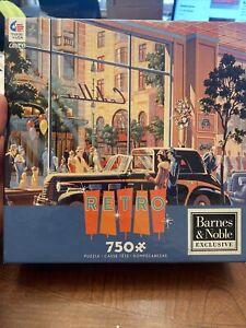 "Rare Barnes & Noble Exclusive ""RETRO"" 750 Puzzle NEW Michael Young 2016 Cadillac"