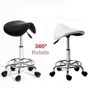 1/2Set Beauty Saddle Salon Stool Chair Hairdressing Barber Tattoo Therapist Lift