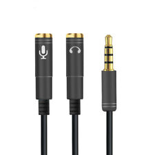 3.5mm Headphone Microphone Jack Splitter Cable 4 Pole Mic Adapter Xbox Adaptor