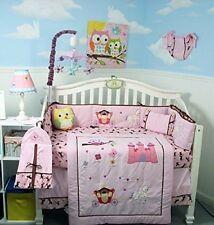 PINK CRIB BEDDING SET MY LITTLE PRINCESS Infant Baby Girl Nursery 14 Pc Quilt+