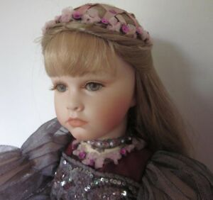 """Extremely Rare Porcelain/Wooden Jointed Collectible 20"""" Doll"""