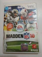 Madden NFL 10 (Nintendo Wii Wii-U, 2009) Complete Football Game TESTED cib
