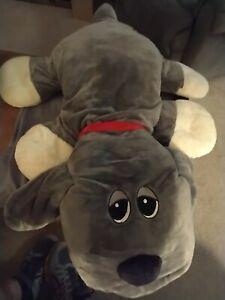 """Hasbro Large 36"""" Pound Puppy Grey Plush Stuffed Animal - GIANT JUMBO"""