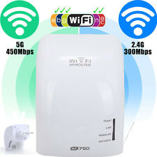 AC750 Dual Band 2.4/5GHz Wireless Repeater 802.11AC Router WiFi Range Extender