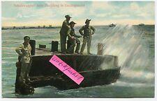 Postkarte um 1910: Deutsch-Südwest-Afrika, DSW-Soldaten beim Angeln in Swakopm.