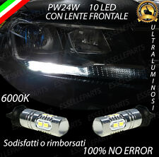 COPPIA LUCI DIURNE DRL 10 LED PW24W CANBUS VOLKSWAGEN TIGUAN MK2 6000K NO ERROR