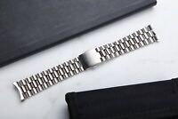 20mm President Style Stainless Steel Watch Band With Curved End Links