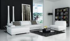 Sofá Conjunto de Muebles para Salón XXL Sofá de Cuero Con Otomano Sofá K5002