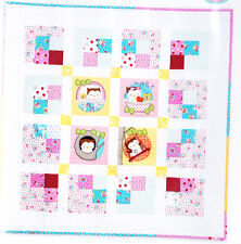 Good Morning Owl - sweet applique and pieced baby quilt PATTERN - Red Brolly