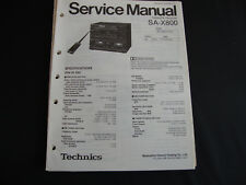 ORIGINALI service manual TECHNICS Ricevitore sa-x800