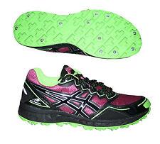 Asics Gel Fuji Setsu Damen Trail Running Laufschuhe mit Spikes Gr. 35,5