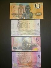 Australian 1988 $10 note / 2001 $5 Note / 2 x $5 Consecutive Notes