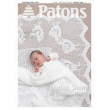 Patons Pattern 3903 Baby Crochet Shawl In 3Ply.