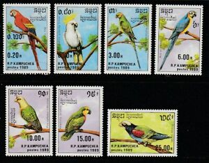 Cambodia   1989   Sc # 938-44   Birds   MNH   (1183-5)