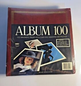 MBI - Red Photo Album - Album 100 - Magnetic Pages Made in USA