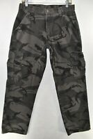 Wrangler Mens Pants Cargo Camo Camouflage Military Size 32x32 Meas 31x32 Work