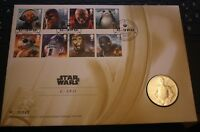 Star Wars The Last Jedi Royal Mail First Day Coin and Stamp cover C-3PO mint