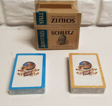 Vintage Schlitz Miniature Beer Case with 2 Deck of Playing Cards 1960's