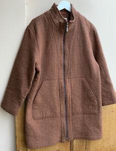 Women's Rust/brown Herringbone Country Jacket wool mix 14/16uk By Steilmann