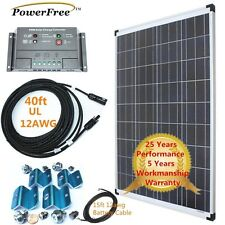 Complete Kit Premium 100w 100 Watt Poly Solar Panel for Charging 12v Batteries
