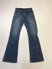 "Women's Levi 525 ""Bootcut"" Jeans-W27 L32-Faded Bleu Marine Laver-très bon état"
