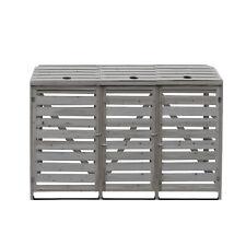 More details for wheelie bin store storage single double and triple bin store rose