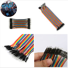 For Arduino Breadboard Useful 40pcs 20cm 2.54mm Male To Male Jumper Wire Cable