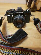 Minolta X-7 35mm film camera with accessories