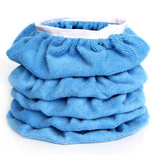 5PCS 9-10'' Blue Plush Soft Car Polishing Waxing Bonnet Buffing Sleeve Pad Cover