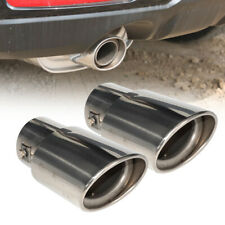 2 Stainless Exhaust Pipe Tip Tail Muffler Pipe fit for Subaru Forester 08-12 Li