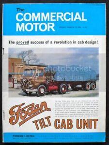 COMMERCIAL MOTOR MAGAZINE 13 Mar 1964 FODEN TILT CAB UNIT Marshall 6x2