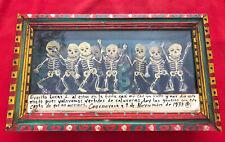 Mexican Folk Art Magnificent Dance Of Life & Death 3-D Retablo Box Shrine