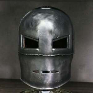 Iron Man Mask,  Metal Carbon Steel , Ironman Helmet Medieval Helmet + Stand and