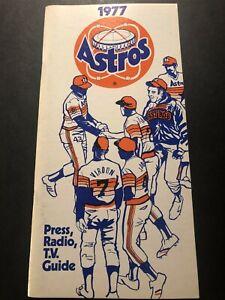 1977 HOUSTON ASTROS Media Guide JR RICHARD Art HOWE Joaquin ANDUJAR Dierker