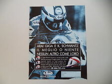 advertising Pubblicità 1992 CASCO HELMET ARAI GIGA e KEVIN SCHWANTZ