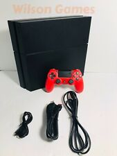Sony PlayStation 4 PS4 500gb Black Console + Red Controller In Great Condition!