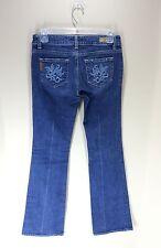 Paige Anthropologie Laurel Canyon Embroidered Dark Wash Bootcut Denim Jeans 26